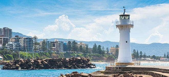 Wollongong coastline, New South Wales.