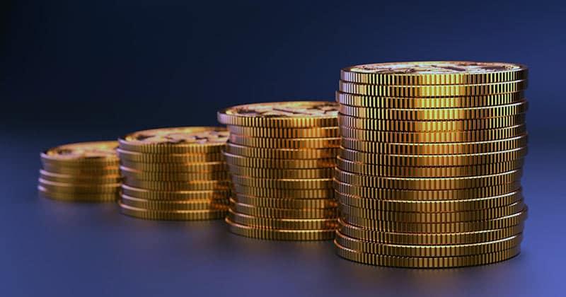 Gold coins assets