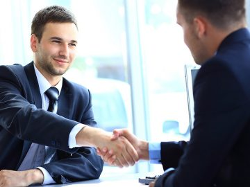 Handshake after business negotiation