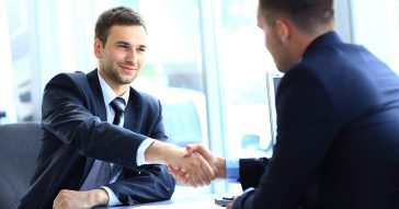 Handshake after business negotiation