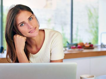 Online student studying for an MBA degree