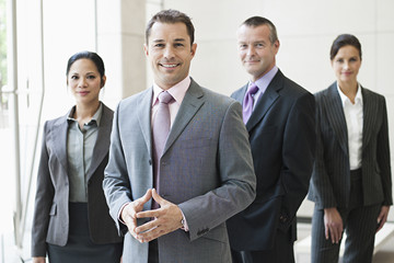 Group of senior business executives.